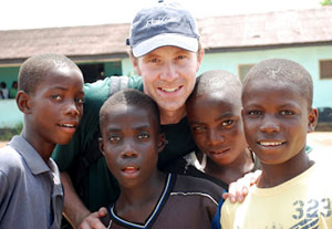 Dan Rutledge in Liberia.