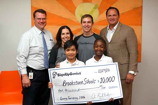 SignUpGenius Donates to Brookstone Schools