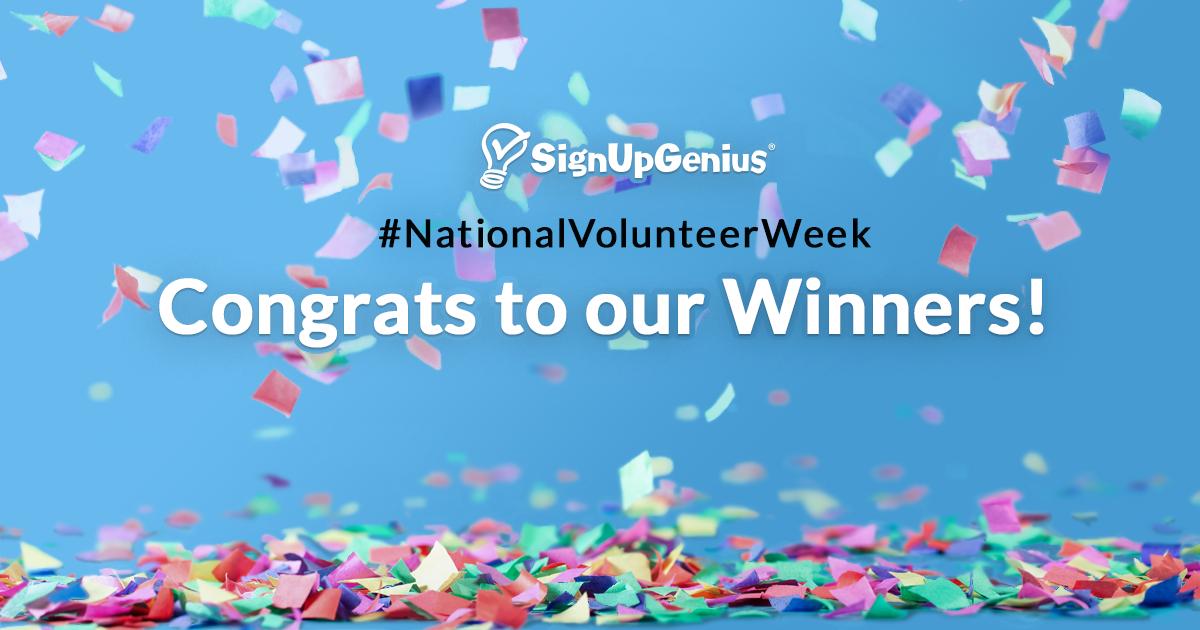 congrats to winner national volunteer week