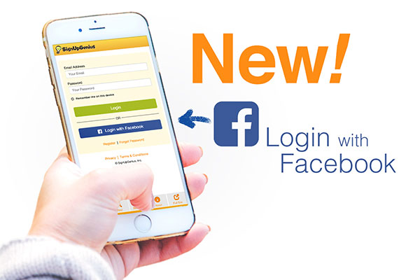 SignUpGenius login registration facebook