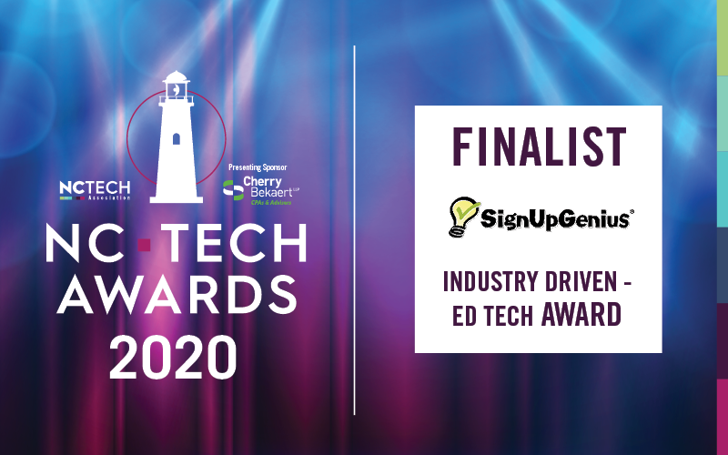 SignUpGenius Named NC Tech Awards Finalist