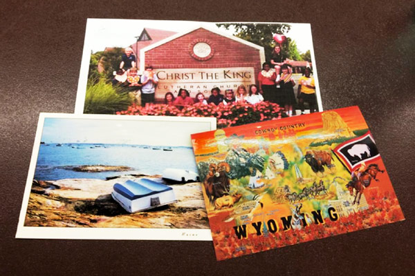 postcard for classroom exchange