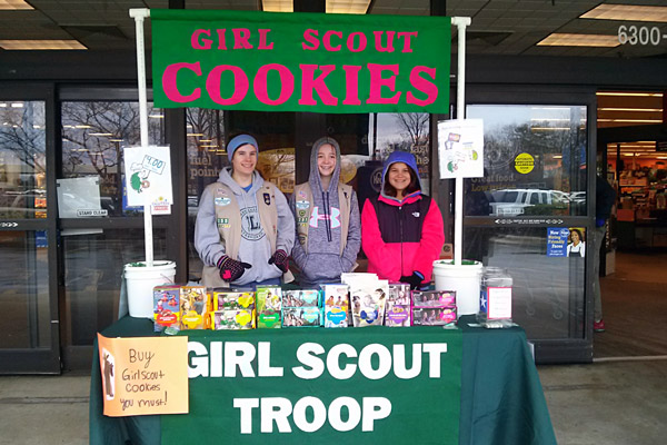 Busty girl scouts sell more cookies