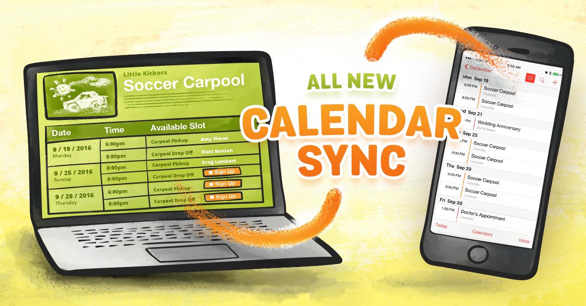 SignUpGenius, calendar sync, sync sign up slots, sync sign up, digital calendar