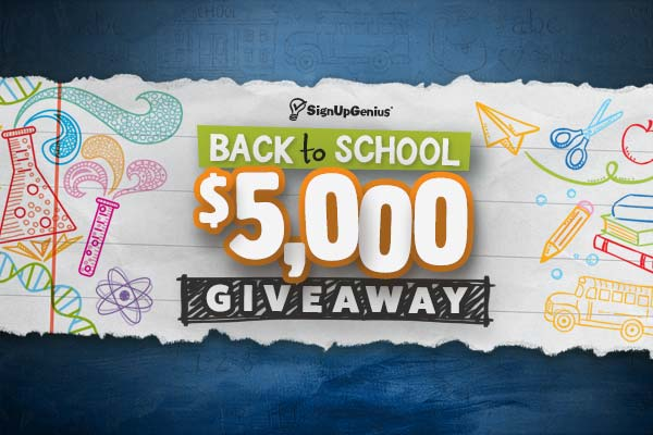 SignUpGenius Kicks Off Back-to-School with $5,000 Giveaway