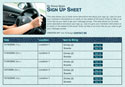 Carpool Bunny sign up sheet