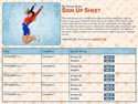cheerleading basket sign up sheet