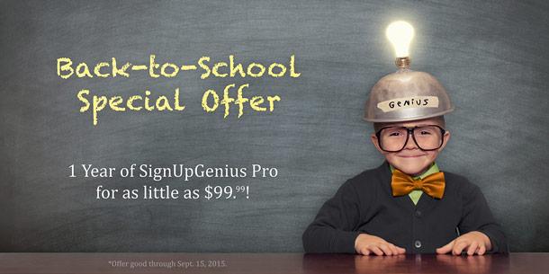 special offer signupgenius