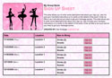 dance recital sign up sheet