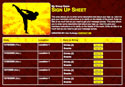 martial arts kung fu karate tae kwon do sign up sheet