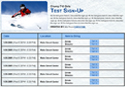 Skiing sign up sheet