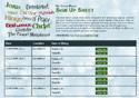 Christmas Names sign up sheet