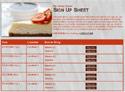 Cheesecake sign up sheet