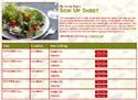 Salad sign up sheet