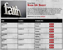Faith sign up sheet