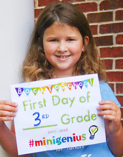 back to school first day sign