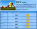 Hot Air Balloons sign up sheet