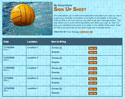 Water Polo sign up sheet