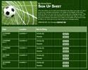 Soccer 4 sign up sheet