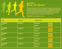 Cross Country sign up sheet