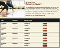 Yoga sign up sheet
