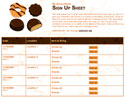 Girl Scout Cookies sign up sheet