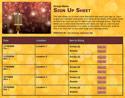 Talent Show sign up sheet