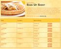 Waffles sign up sheet