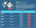 Snowman Fun sign up sheet