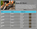 Bike Race sign up sheet
