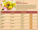 Fruit sign up sheet