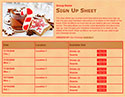 Christmas Cookie sign up sheet