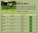 Mowing sign up sheet