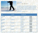Cross Country Skiing sign up sheet