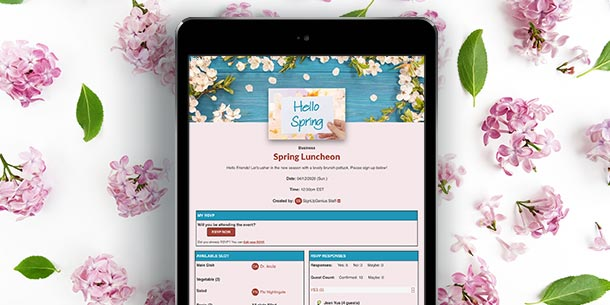 online sign up new spring themes designs photos images background graphics