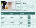 Bride & Groom sign up sheet