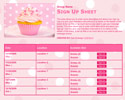 Cupcake sign up sheet