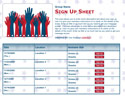 Elections sign up sheet