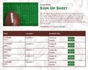 Football 6 sign up sheet