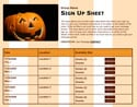 Jack O'Lantern sign up sheet