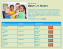 Preschool Kids sign up sheet