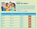 Preschool Kids sign up sheet
