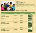School Kids 2 sign up sheet