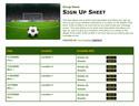 Soccer 6 sign up sheet