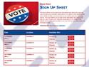 Vote 2 sign up sheet