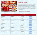Christmas Snowman sign up sheet