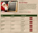 Christmas Wish List sign up sheet