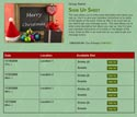 Merry Christmas sign up sheet