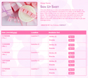 Baby Pink sign up sheet