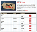 Black Friday sign up sheet